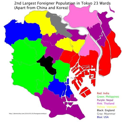 2ndLargestForeignerPopulationinTokyo