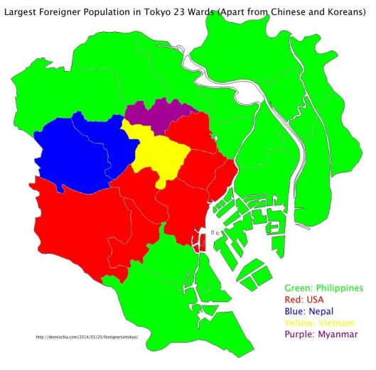 LargestForeignerPopulationinTokyo